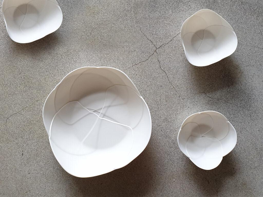 Bluete gross und klein Atelier für Porzellangestaltung
