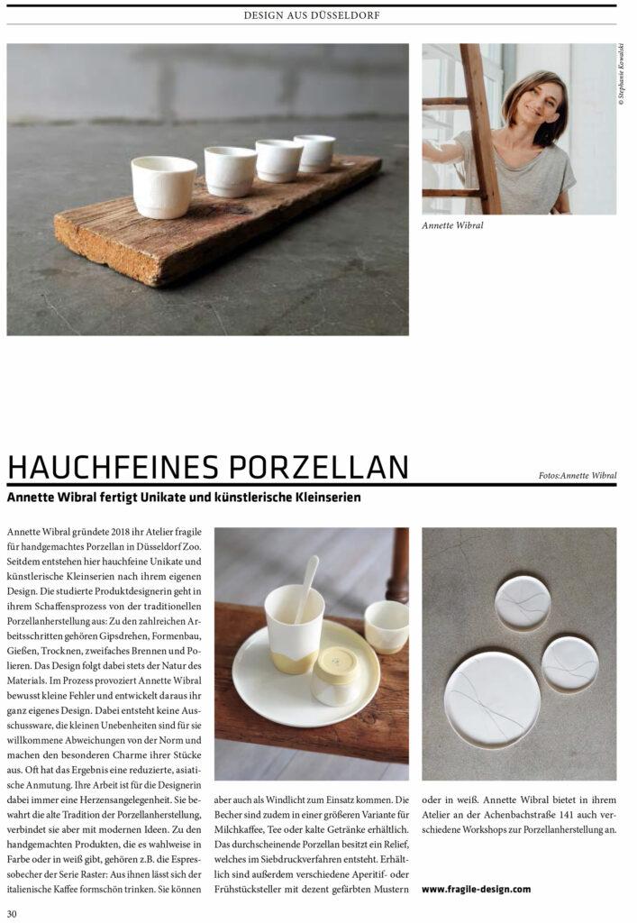 Fragile in Cube mag DUS 11 2020 Atelier für Porzellangestaltung