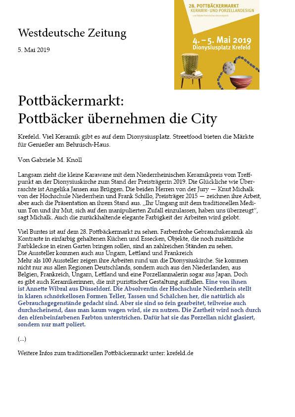 Artikel über fragile auf Pottbäckermarkt Krefeld 2019